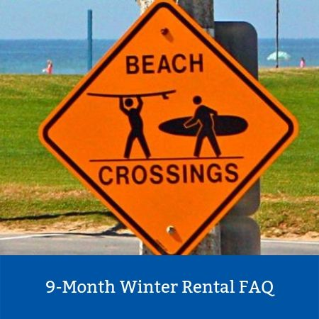 Beach Crossing Sign