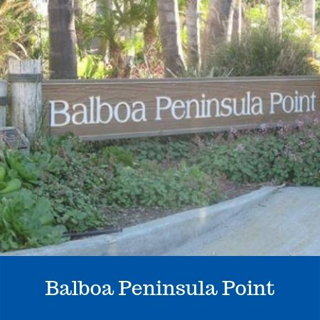Balboa Peninsula Point Sign