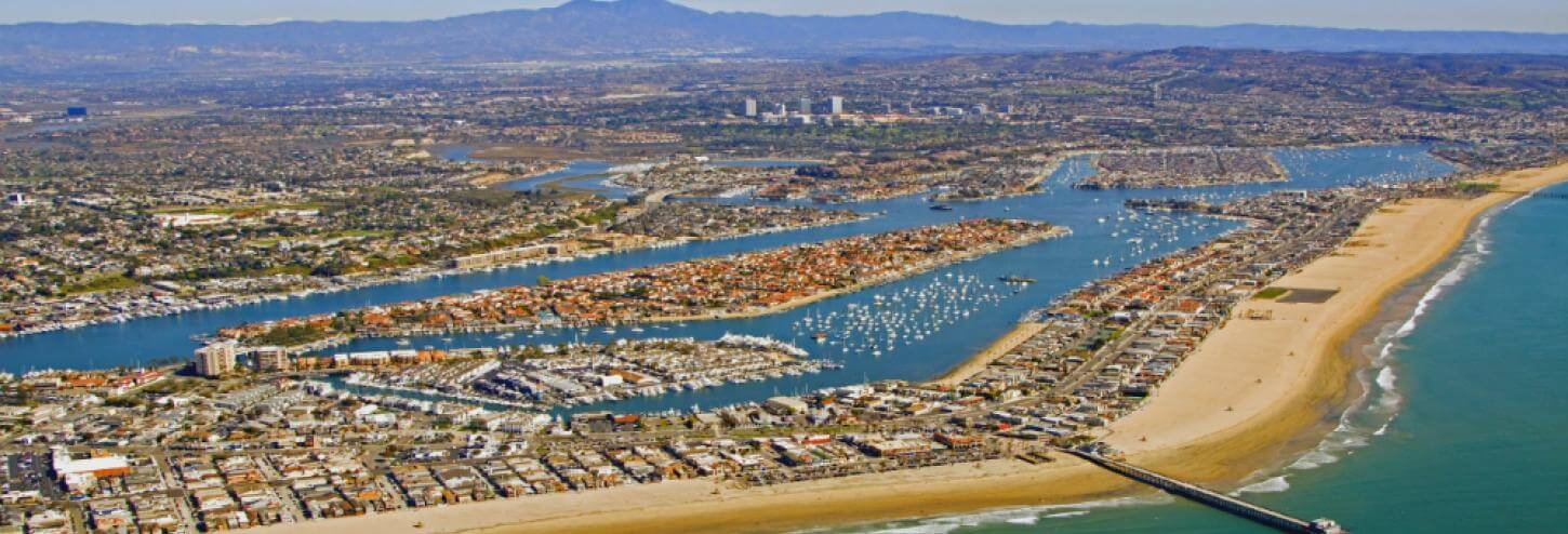 Arial Photo of Newport Beach
