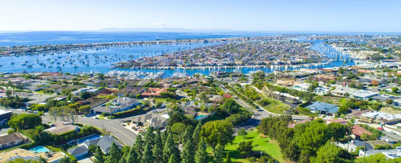 Newport Beach aerial view