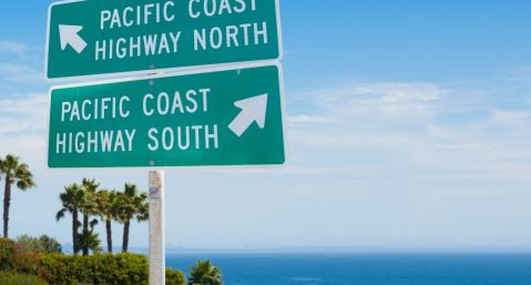 Pacific Coast Highway signs,