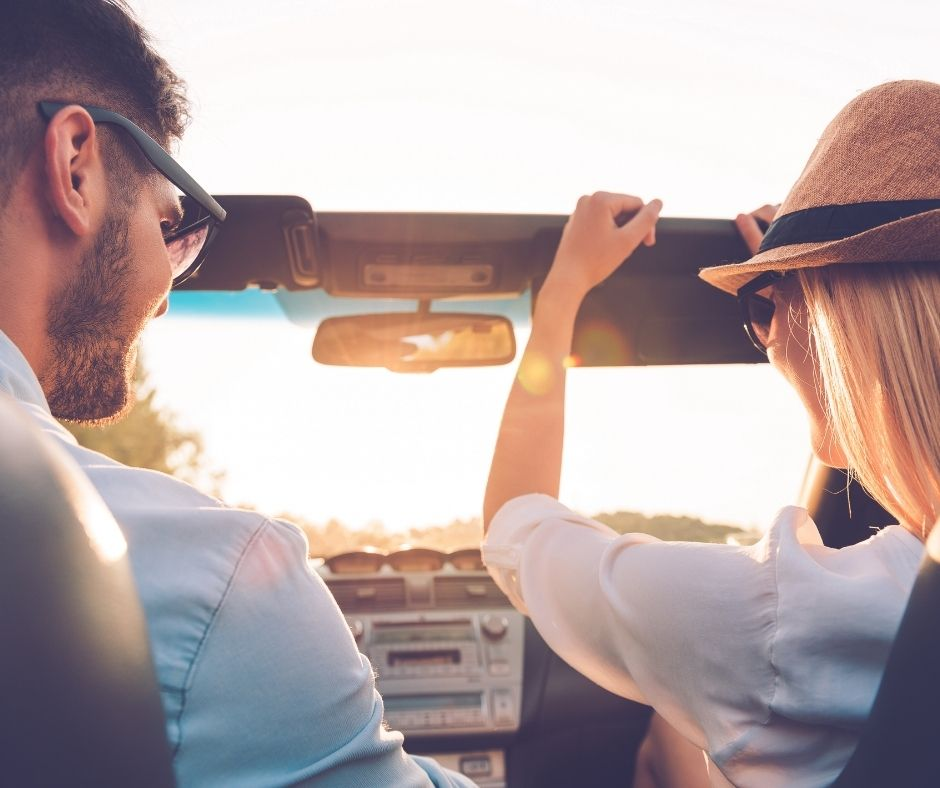 Couple on a road trip